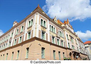 Pecs, Hungary. City in Baranya county. Old post office...
