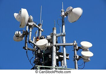 Wireless transmission tower - Telecommunications equipment -...