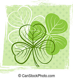 Three leaf clover illustration for St Patricks day