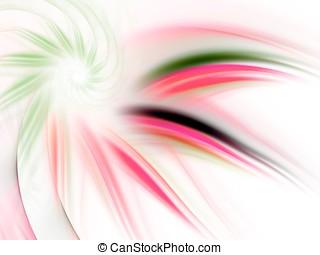 Fractal Abstact Background - Spiral petal impression -...