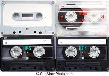 Cassette - Magnetic audio tape cassette for music