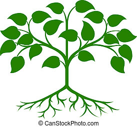 Stylised tree icon - An illustration of an abstract green...