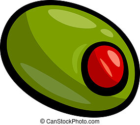 olive clip art cartoon illustration - Cartoon Illustration...