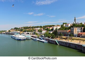 Belgrade, Serbia - Old Town skyline with Sava river