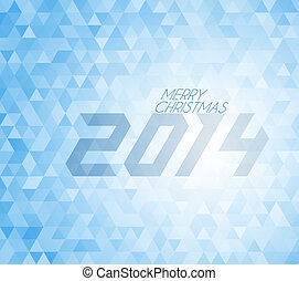 retro vector Christmas background made from blue triangles