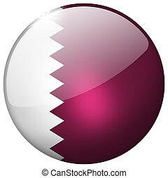 Qatar Round Glass Button