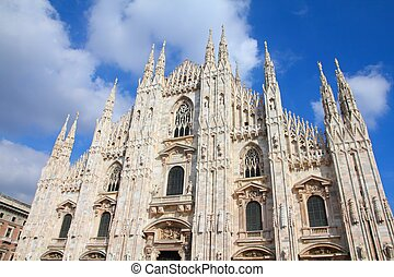 Milan cathedral - Cathedral of Milan. Catholic church in...