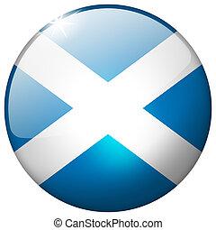 Scotland Round Glass Button
