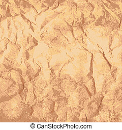 Old paper texture - Old brown crumpled paper texture