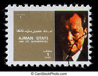 AJMAN - CIRCA 1973: stamp printed by Ajman shows Willy...