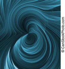 Blue Green Flow Abstract - Artistic Abstract Background -...