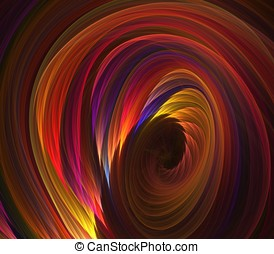 Colorful Twist Abstract - Artistic Abstract Background -...