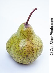 Green duchess pear isolaed on white - Green duchess pear on...