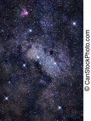 The depths of space - Astronomical photograph of bright...