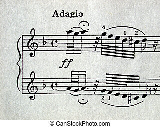 Music sheet score