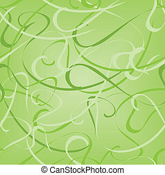 Pattern abstract - Seamless vector green pattern with...