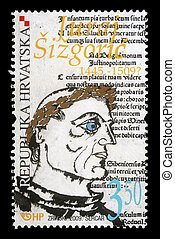 CROATIA - CIRCA 2009: stamp printed by Croatia shows Juraj...