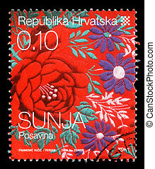 Stamp printed in Croatia - CROATIA - CIRCA 2008: stamp...