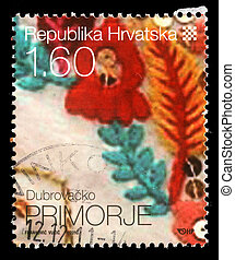 Stamp printed in Croatia - CROATIA - CIRCA 2010: stamp...