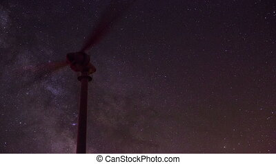 wind turbine with milky way 2