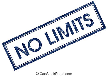 no limits blue square stamp