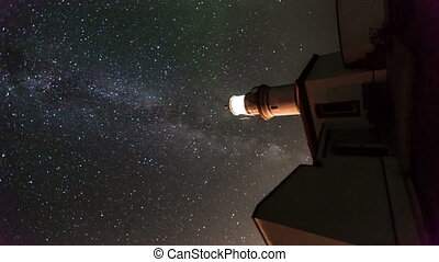 milky way 1 - lighthouse on the Milky Way, lateral shoot