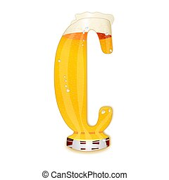 BEER ALPHABET letter C - Very detailed illustration of a...