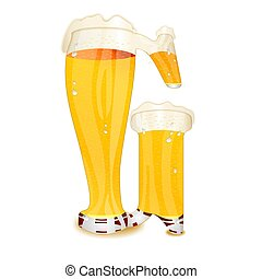 BEER ALPHABET letter G - Very detailed illustration of a...