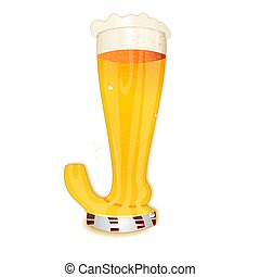 BEER ALPHABET letter J - Very detailed illustration of a...