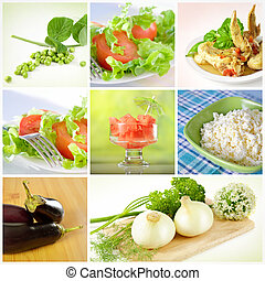 Collage of healthy food