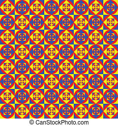 Colorful Ethnic Pattern - Seamless Background