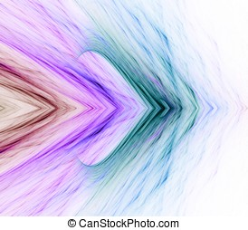 Arrow Layers Abstract - Colorful fibrous layered arrow...