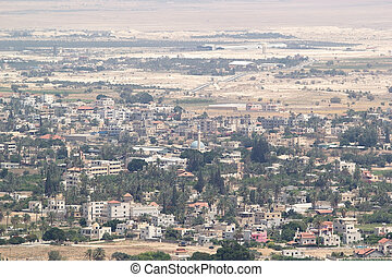 Jericho - Jerico town cityscape from the mount of the...