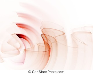 Fractal Abstact Background - Curling and rippling design -...