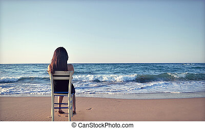 relaxation - sea women photo