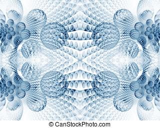 Fractal Abstact Background - 3d bubble layers - 3d bubble...