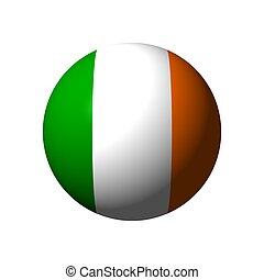 Sphere with flag of Ireland