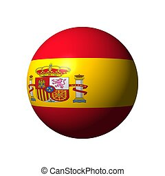 Sphere with flag of Spain nation