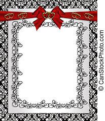 Ornamental frame damask