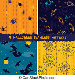 Halloween seamless patterns collection - Collection of 4...