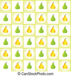 pears - Ripe pears pattern, vector background