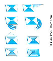 Icons in the form of envelopes with - The picture shows the...