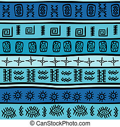 Seamless with tribal motifs