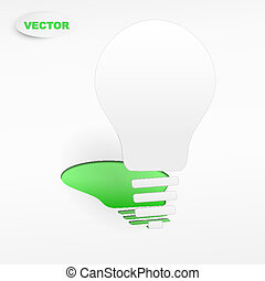 creative light bulb label vector design
