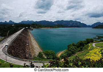 Dam in the beautiful province in Thailand - Dam in the...