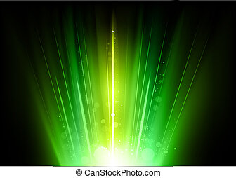 green rays in the dark space