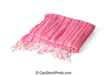Warm scarf in pink