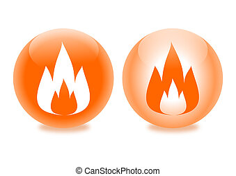 Flames in glass beads as an illustration
