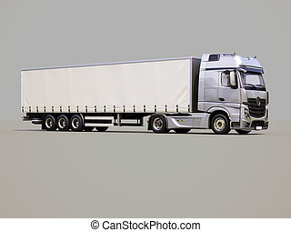 semi-trailer, lastbil