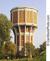 historic brick twelve angular water tower